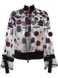 куртка-бомбер с нашивками Sacai