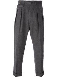 брюки со складками Wooster + Lardini