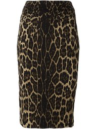 animal print pencil skirt Samantha Sung