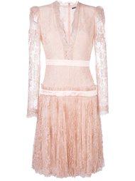платье c V-образным вырезом   Alexander McQueen
