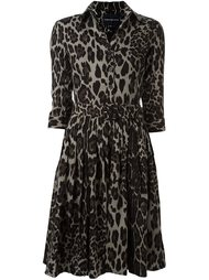 animal print shirt dress Samantha Sung