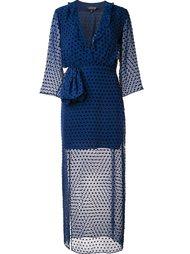 прозрачное платье в горох Saloni