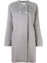 двубортное пальто с декорированными карманами Blugirl