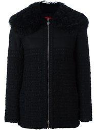 embellished fur trimmed jacket Moncler Gamme Rouge