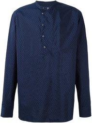 рубашка с узором и воротником-мандарин Giorgio Armani