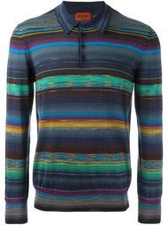 рубашка-поло в полоску с длинными рукавами Missoni