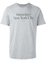 футболка с принтом логотипа   Saturdays Surf Nyc