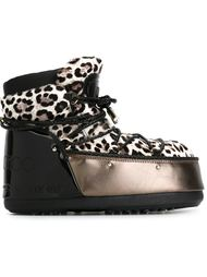 сапоги с леопардовым принтом Jimmy Choo x Moon Boot Moon Boot