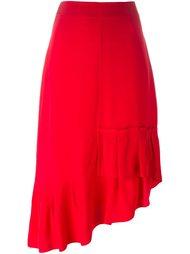 асимметричная юбка с рюшами Tibi