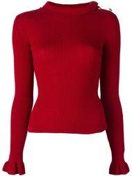 свитер в рубчик  Red Valentino