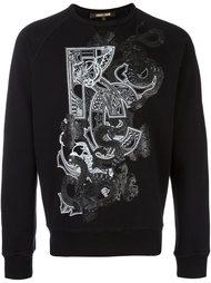 snake print sweatshirt Roberto Cavalli