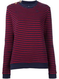 distressed knit striped sweater Zoe Karssen