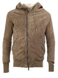 zipped hooded ribbed jacket Giorgio Brato