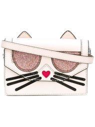 сумка через плечо с аппликацией Karl Lagerfeld