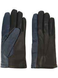 двухцветные перчатки Paul Smith
