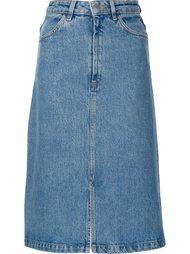 джинсовая юбка А-образного силуэта Mih Jeans