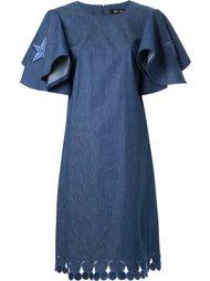 джинсовое платье с вышитыми звездами DressCamp