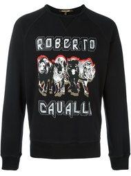 logo print sweatshirt  Roberto Cavalli