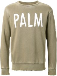 'palm' print sweatshirt Palm Angels