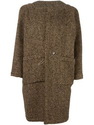 твидовое пальто на булавке Daniela Gregis