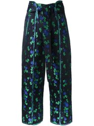 жаккардовые брюки с цветочным принтом G.V.G.V.