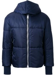 padded short hooded jacket Palm Angels