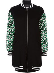 leopard sleeves bomber jacket  Jeremy Scott