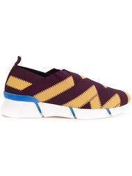 кроссовки-слипон с плетеным дизайном Stella McCartney