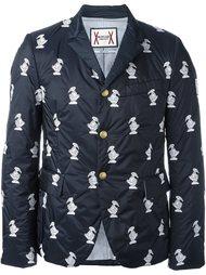 printed padded blazer  Moncler Gamme Bleu