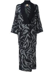 patterned cardi-coat Nude