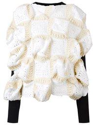 crochet panel structured jumper Junya Watanabe Comme Des Garçons