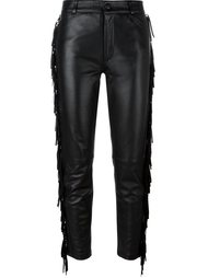 cropped leather trousers  Jeremy Scott