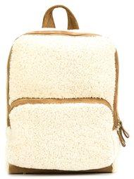 zipped fur backpack  Pierre Hardy