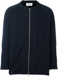 collarless zip jacket Oamc