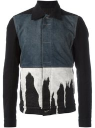 bleach effect denim jacket Rick Owens DRKSHDW