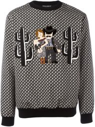 Western Family appliqué sweatshirt  Dolce & Gabbana