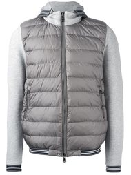padded front zip-up hoodie Moncler
