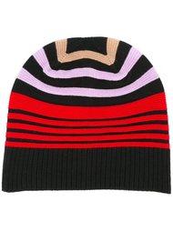 полосатая шапка дизайна колор-блок  Sonia Rykiel