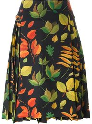 leaf print a-line skirt Arthur Arbesser