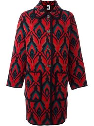 abstract pattern loose-fit coat M Missoni