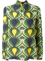 ruffled high neck blouse M Missoni