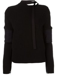 buckle collar jumper Sacai