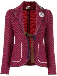 checked fitted jacket Hache