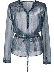sheer blouse  Rebecca Taylor