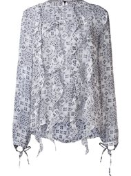 шелковая блузка 'Zappa' Thomas Wylde