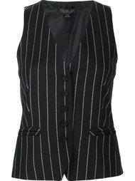 pinstripe waistcoat Rachel Zoe
