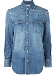 рубашка в стиле вестерн с заклепками Saint Laurent