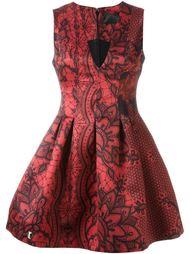 платье с абстрактным принтом  Philipp Plein