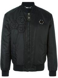 куртка-бомбер с логотипом  Philipp Plein