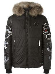 стеганая куртка с нашивками Philipp Plein